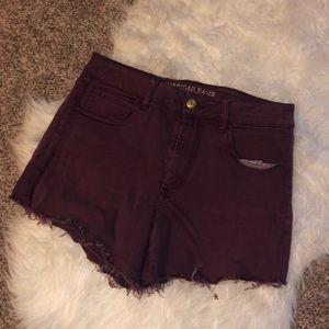 American Eagle size 12 maroon shorts